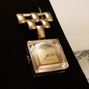 Rare New Vintage Gold Crawford Lapel Brooch Watch